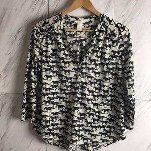 H&M | Horse Print Top | Size Small |